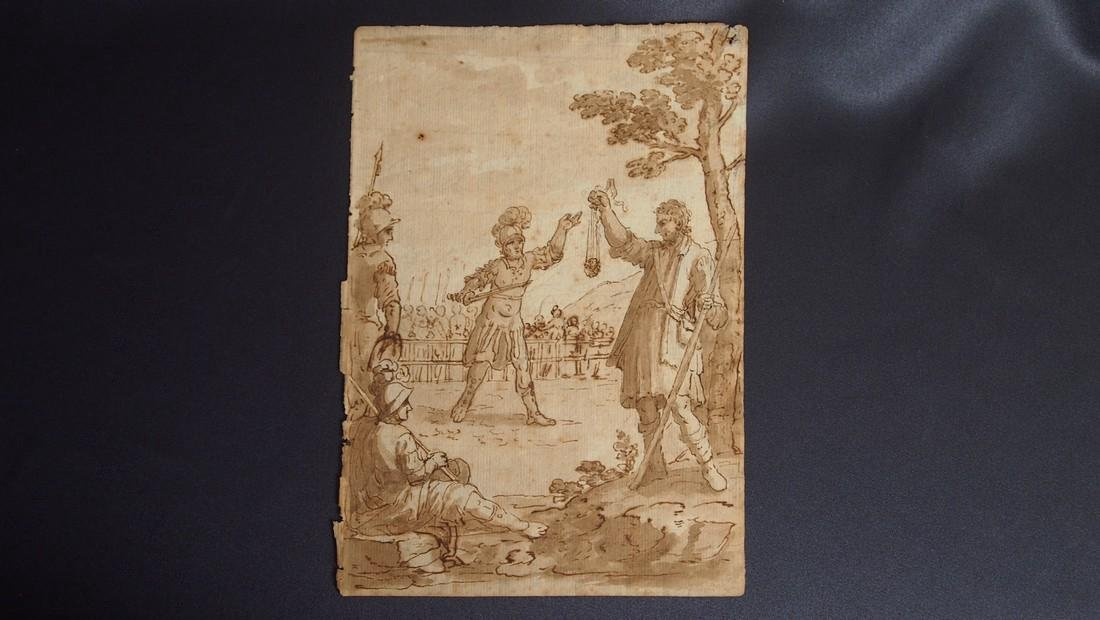 Italian School 16th Century Roman Ink Drawing