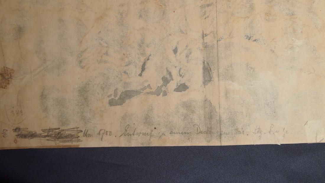 Francesco Solimena, Attrib. Monks Angels Fresco - 3