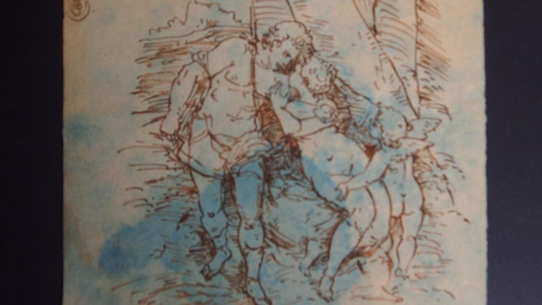17th Century European Drawing Venus and Adonis - 2