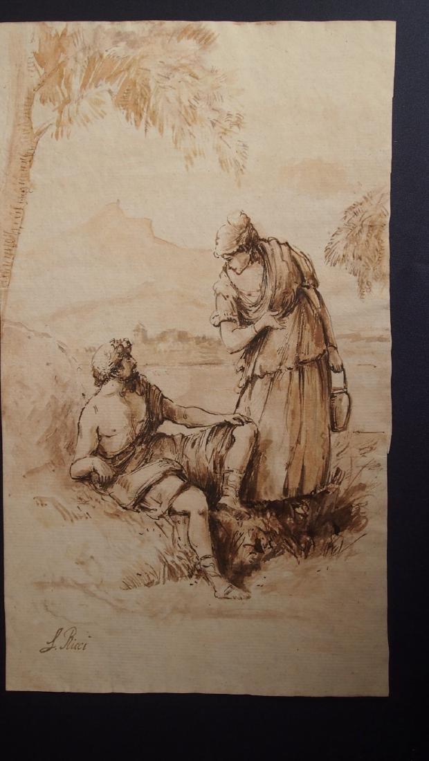 Sebastiano Ricci, Attrib. Pastoral Scene Outside Turin