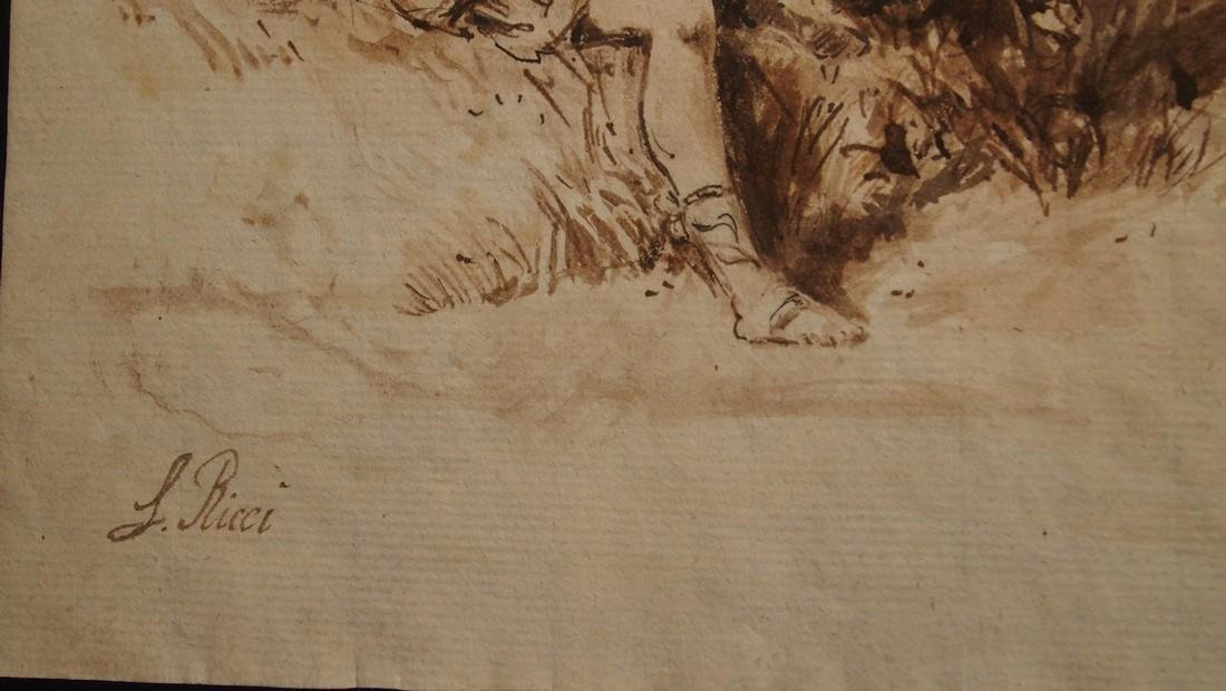 Sebastiano Ricci, Attrib. Pastoral Scene Outside Turin - 3