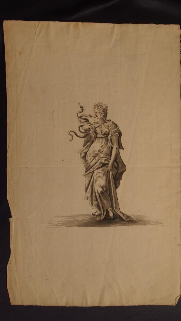 17th Century European Drawing Europa - 2