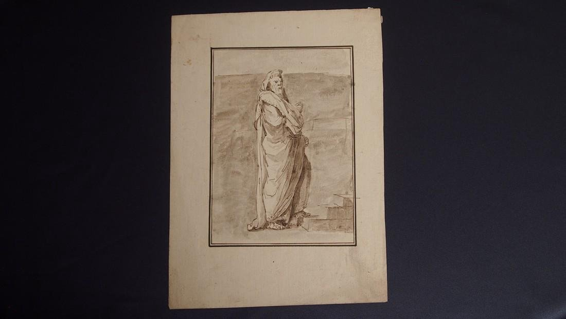Jacques L. David, Attrib. Figural Study Priest
