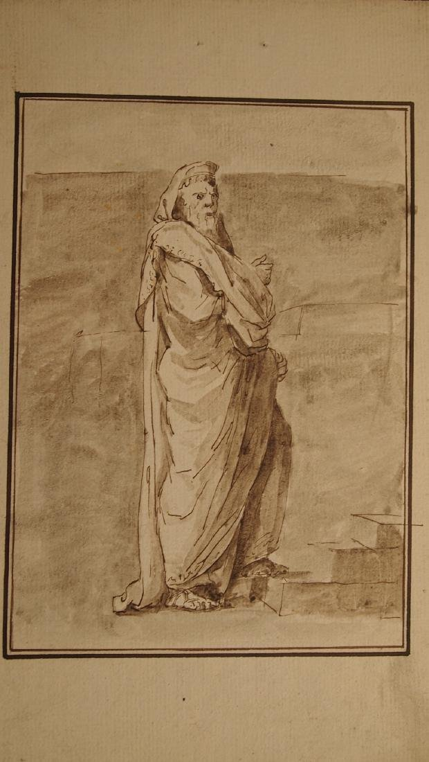 Jacques L. David, Attrib. Figural Study Priest - 2