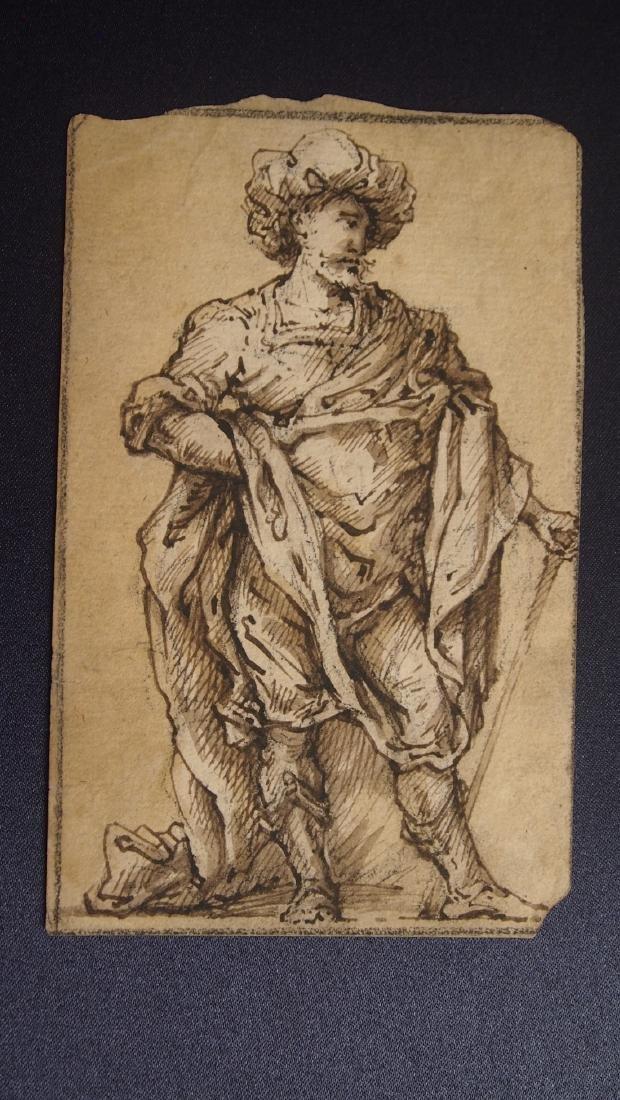 16th Century Venetian Drawing Nobleman