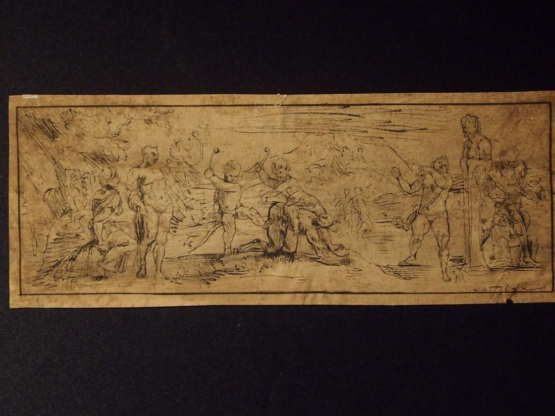 John Lafarge, Attrib. Allegorical 18th Century Drawing - 2