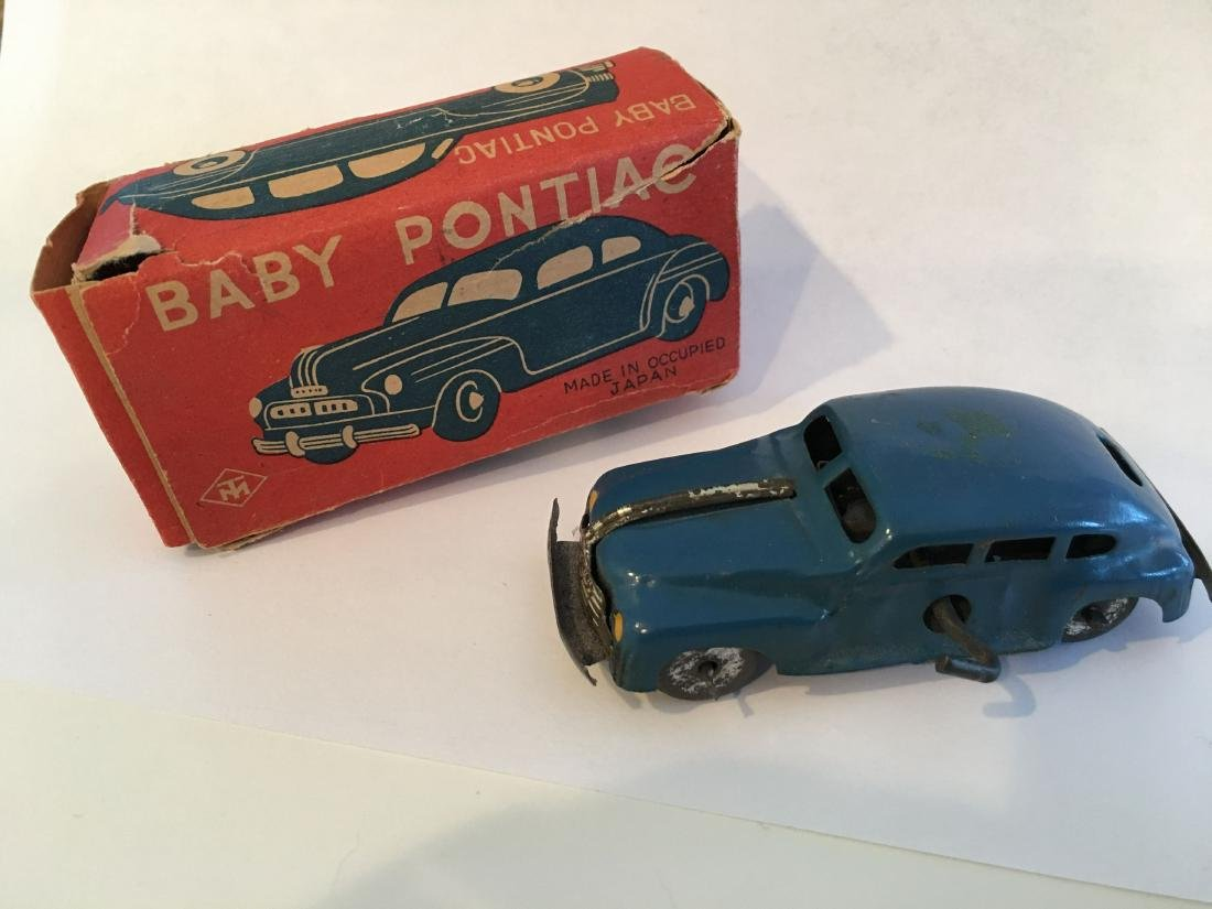 "Vintage Occupied Japan Tin ""Baby Pontiac"" Car in Box"