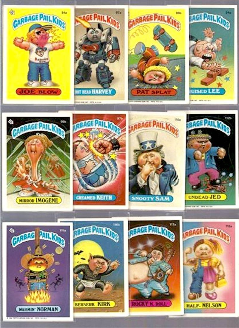 LOT of 125 GARBAGE PAIL KIDS CARDS - 2