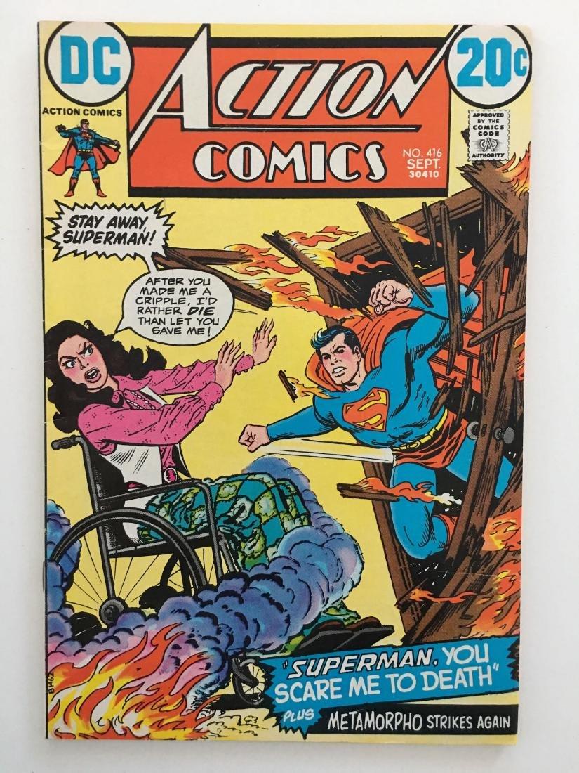 ACTION COMICS #416 - SUPERMAN - F+
