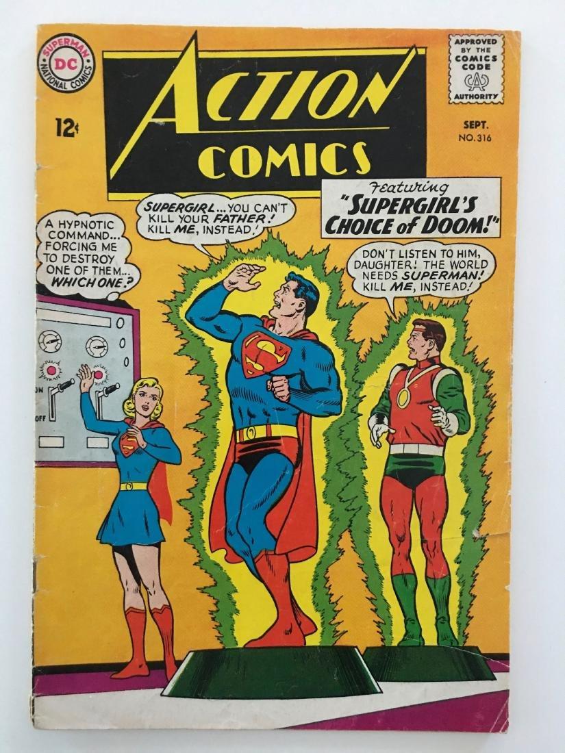 ACTION COMICS #316 - SUPERMAN - VG-
