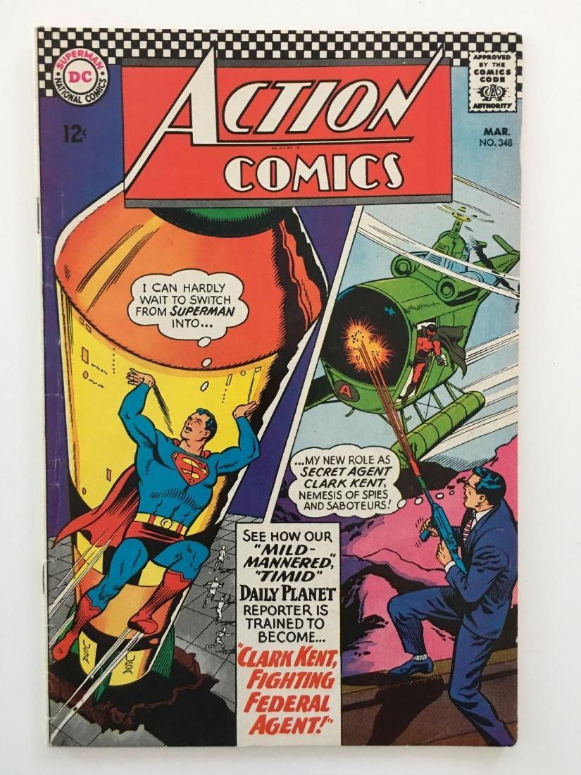 ACTION COMICS #348 - SUPERMAN - VG+