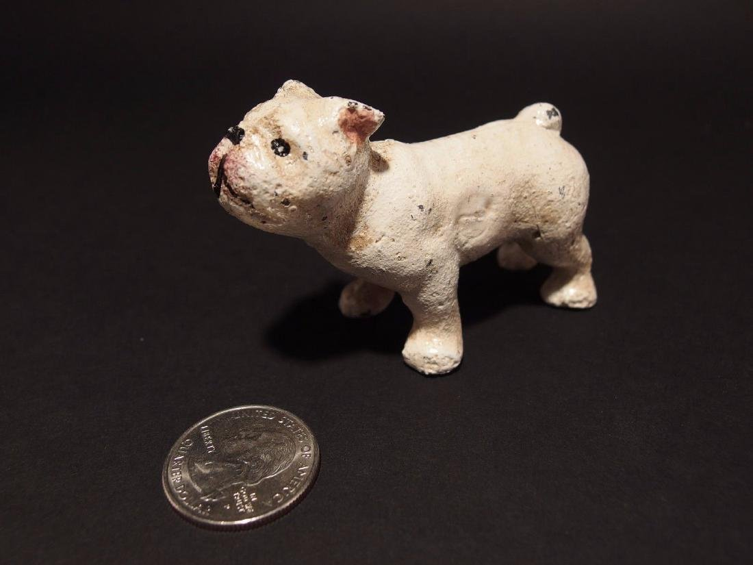 Primitive Miniature Cast Iron White Bull Dog - 10