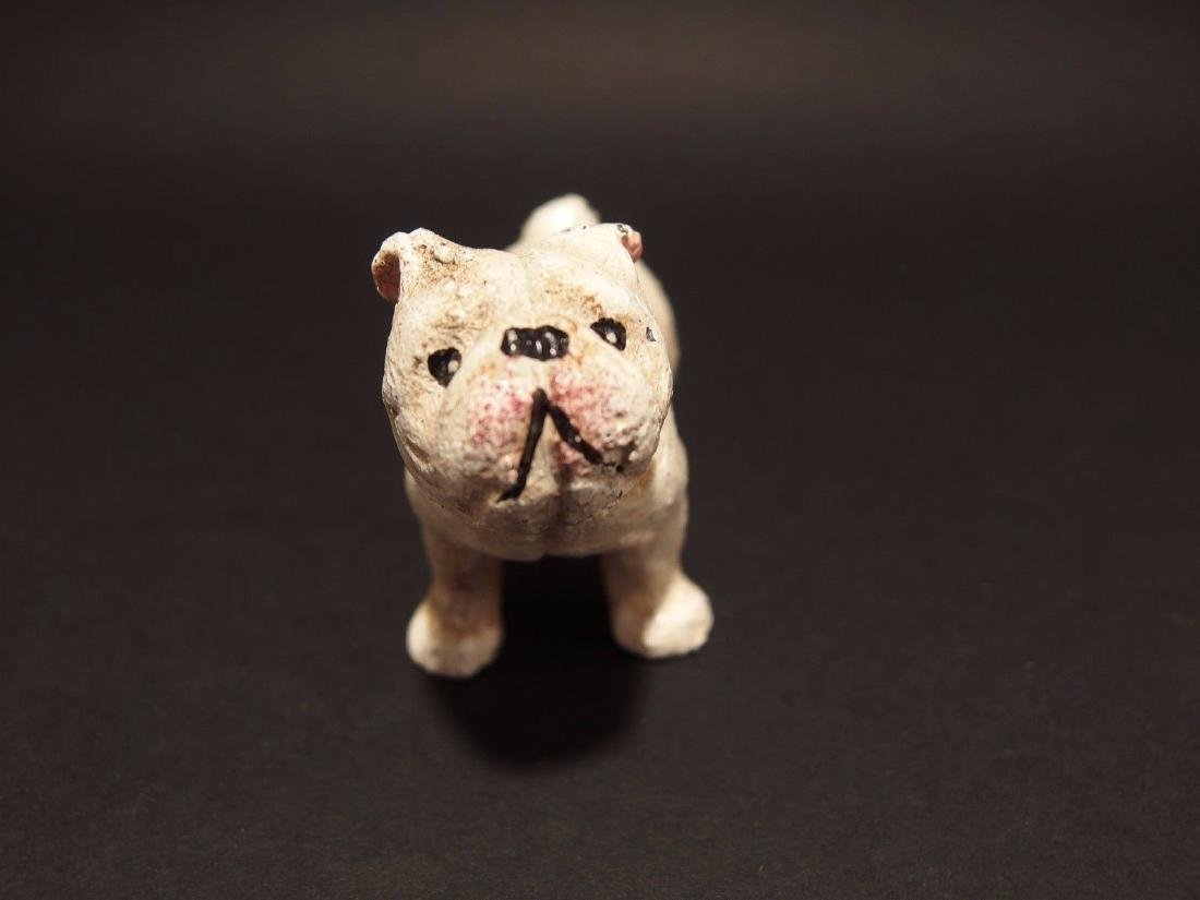 Primitive Miniature Cast Iron White Bull Dog - 3