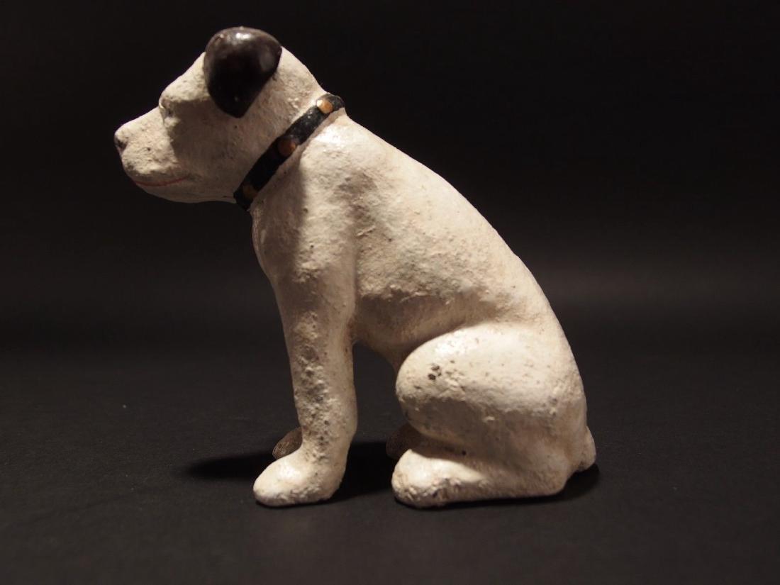 Primitive Miniature Cast Iron Nipper Dog Coin Bank