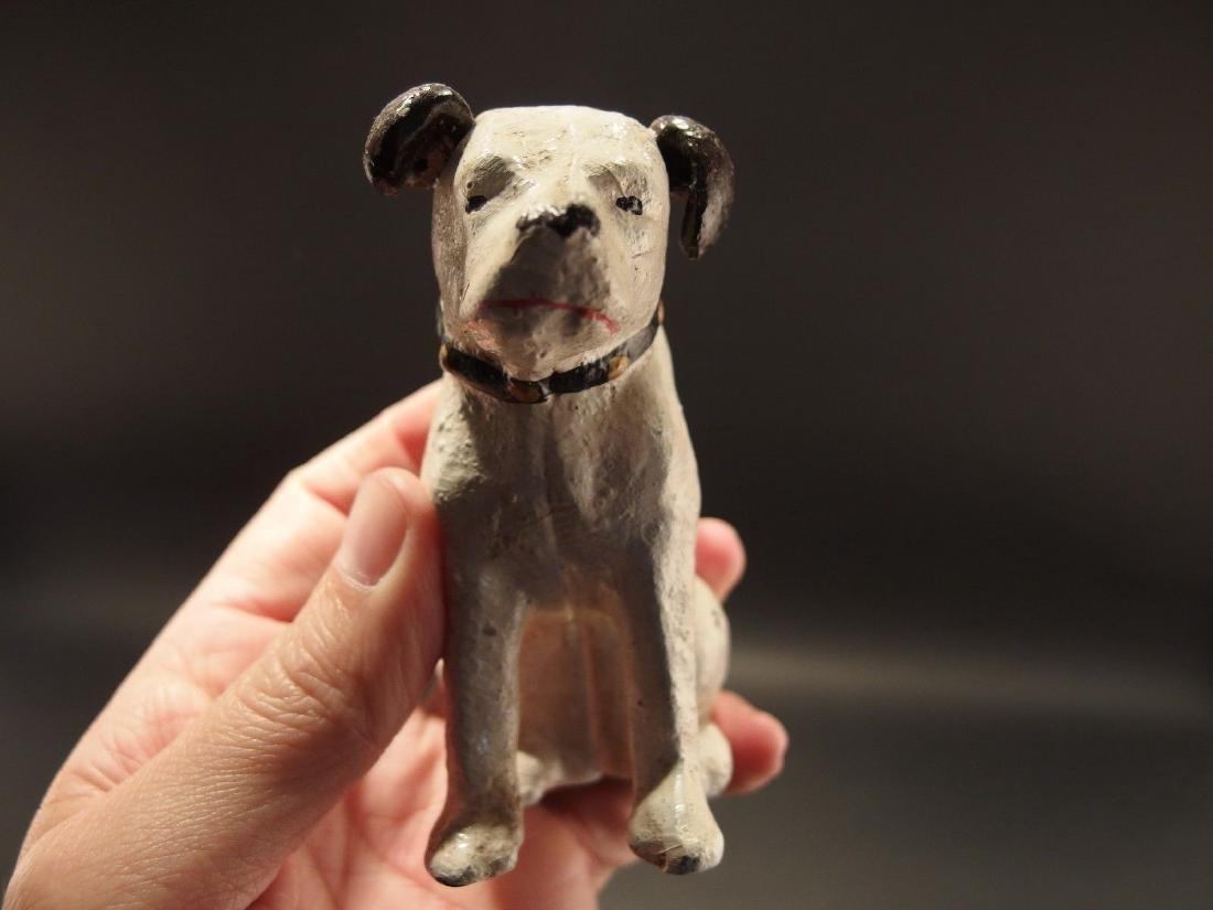 Primitive Miniature Cast Iron Nipper Dog Coin Bank - 2