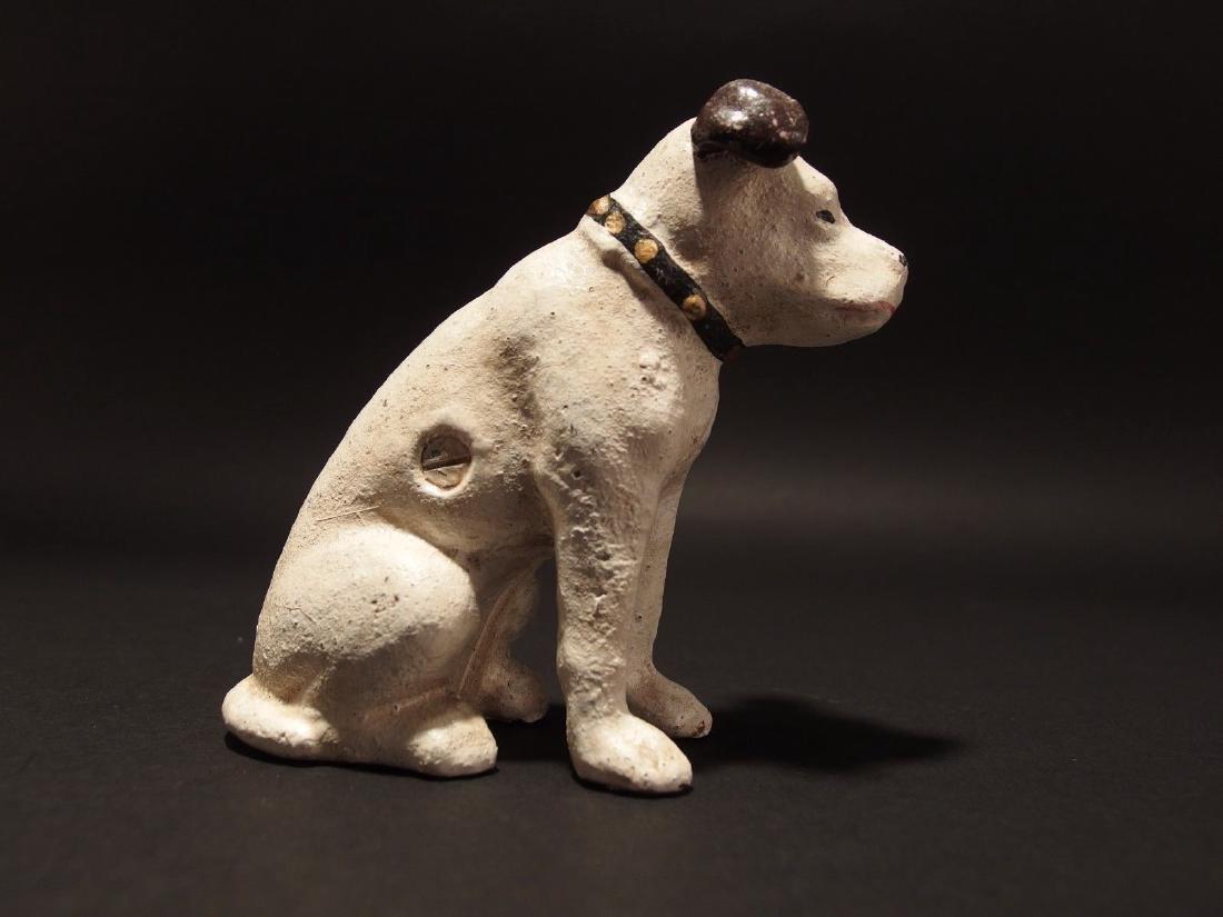 Primitive Miniature Cast Iron Nipper Dog Coin Bank - 8