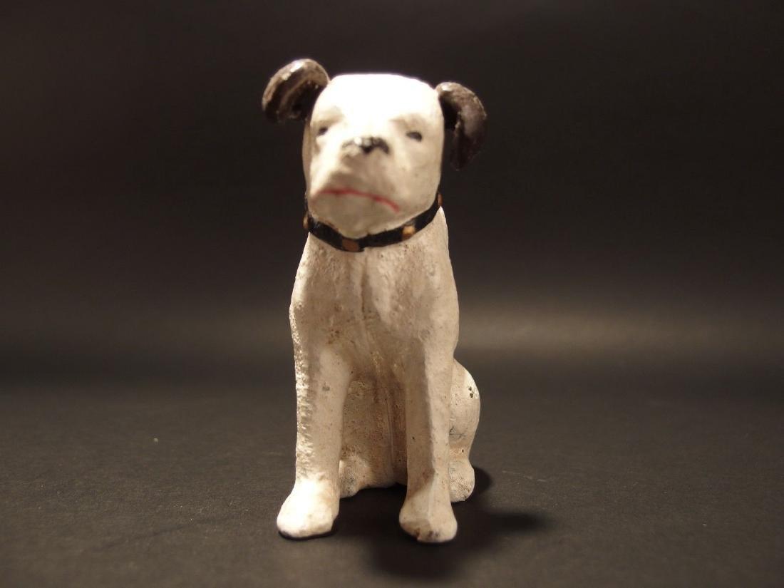 Primitive Miniature Cast Iron Nipper Dog Coin Bank - 9