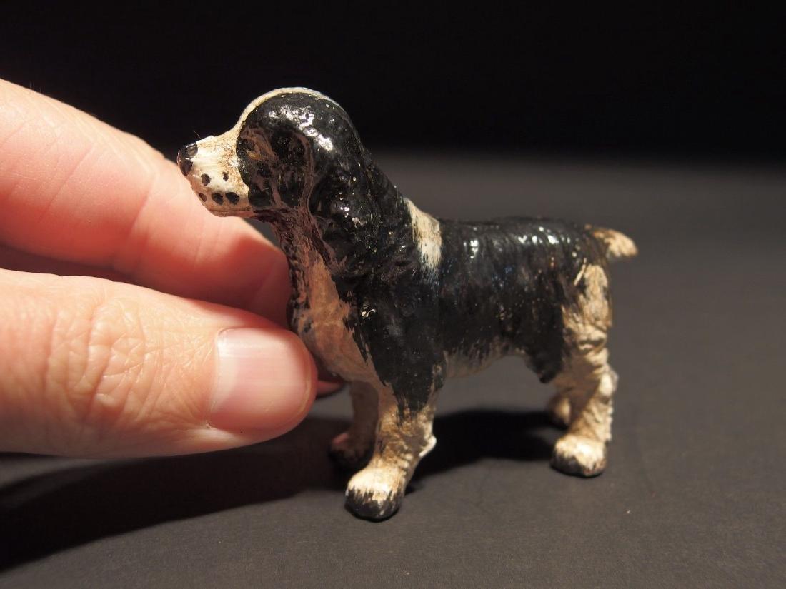 Primitive Miniature Cast Iron Dog Springer Spaniel