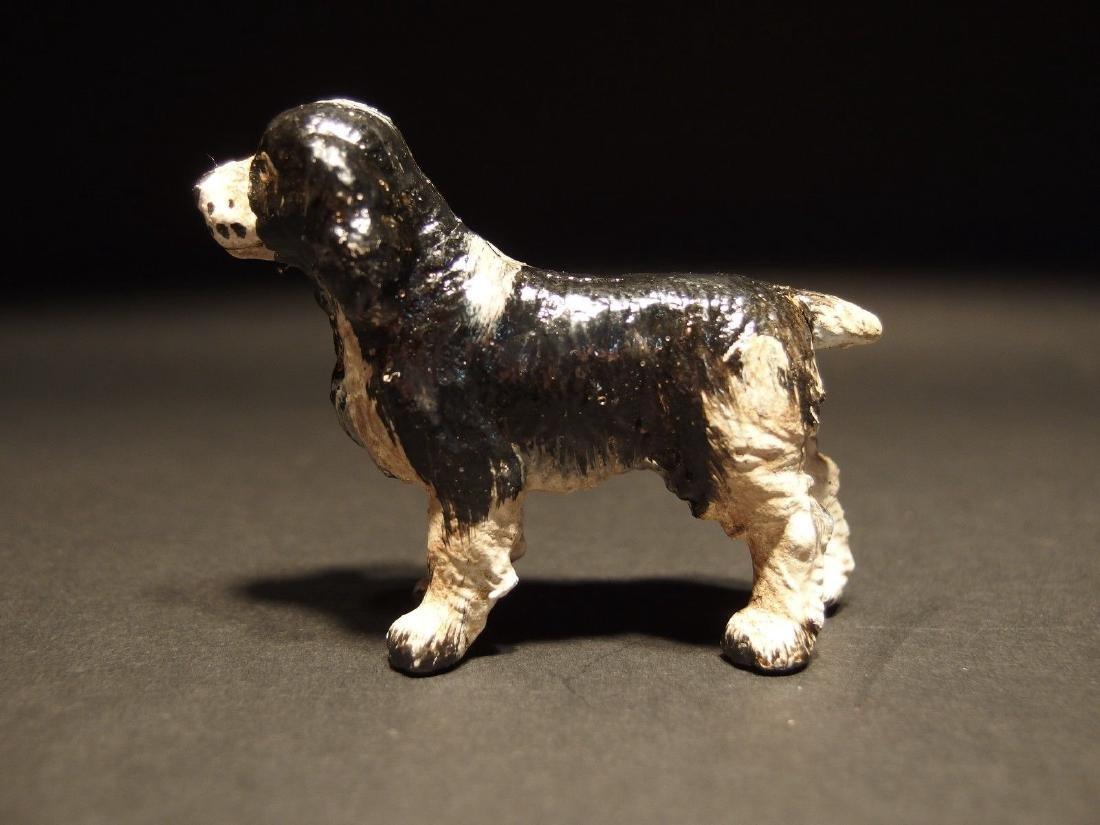 Primitive Miniature Cast Iron Dog Springer Spaniel - 2