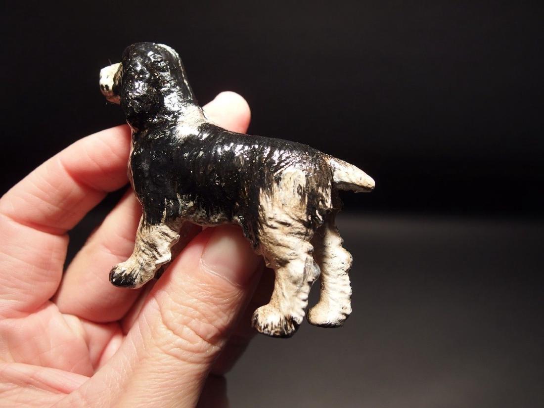 Primitive Miniature Cast Iron Dog Springer Spaniel - 9