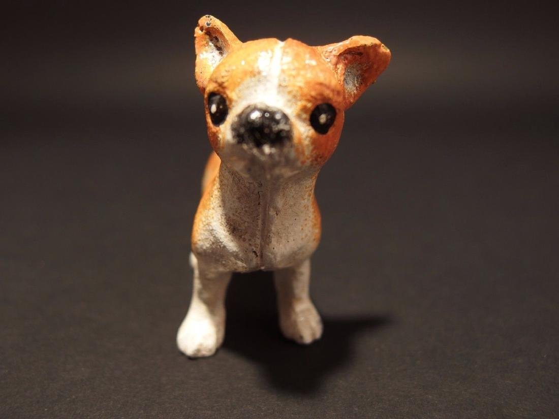Primitive Miniature Cast Iron Dog Chihuahua - 10