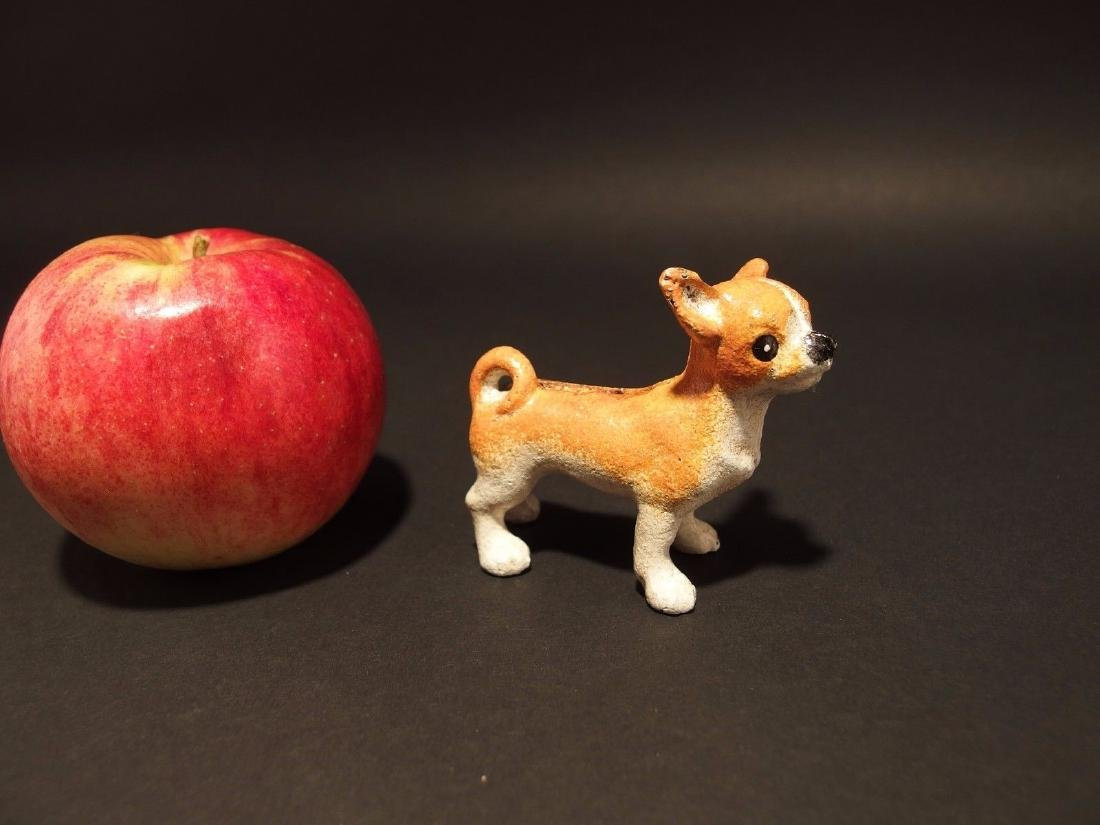Primitive Miniature Cast Iron Dog Chihuahua - 2