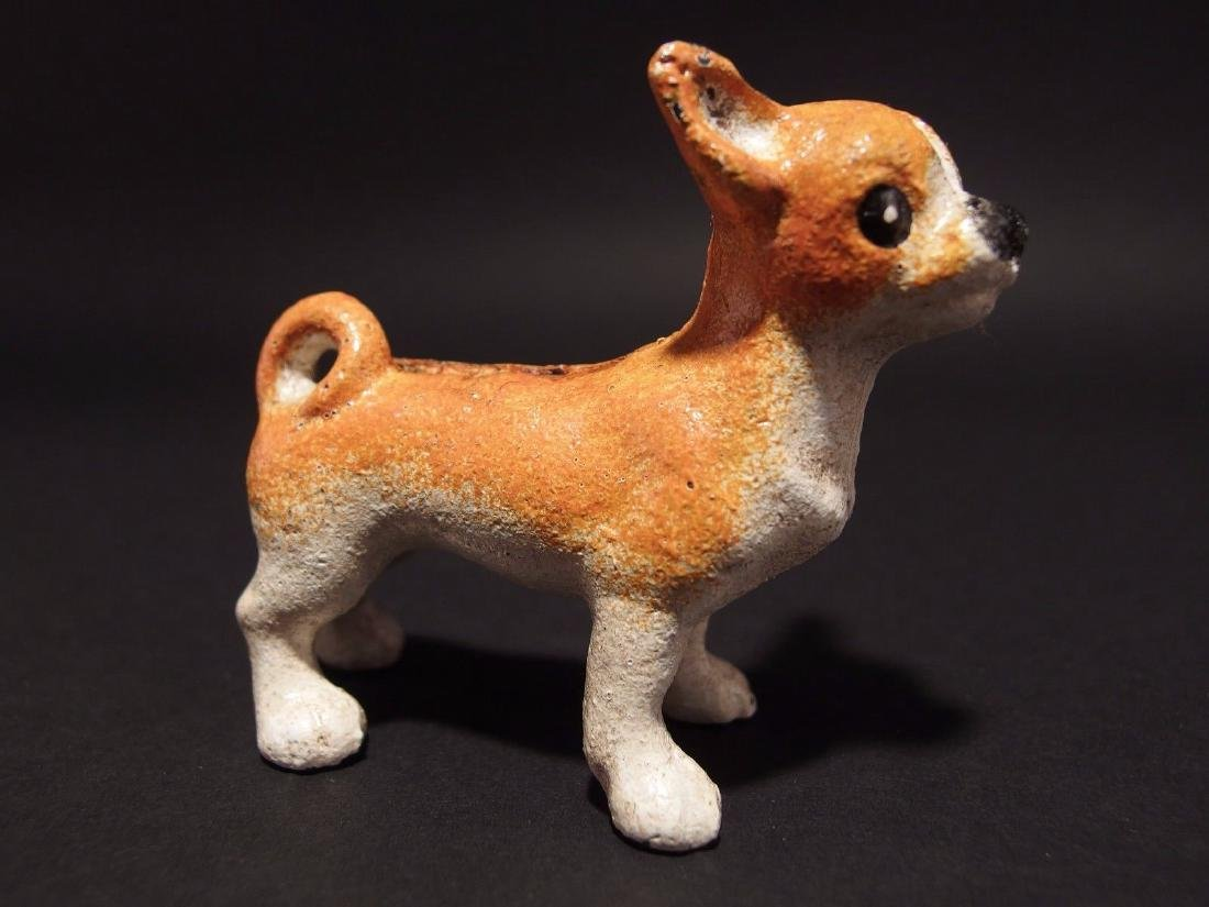 Primitive Miniature Cast Iron Dog Chihuahua - 3