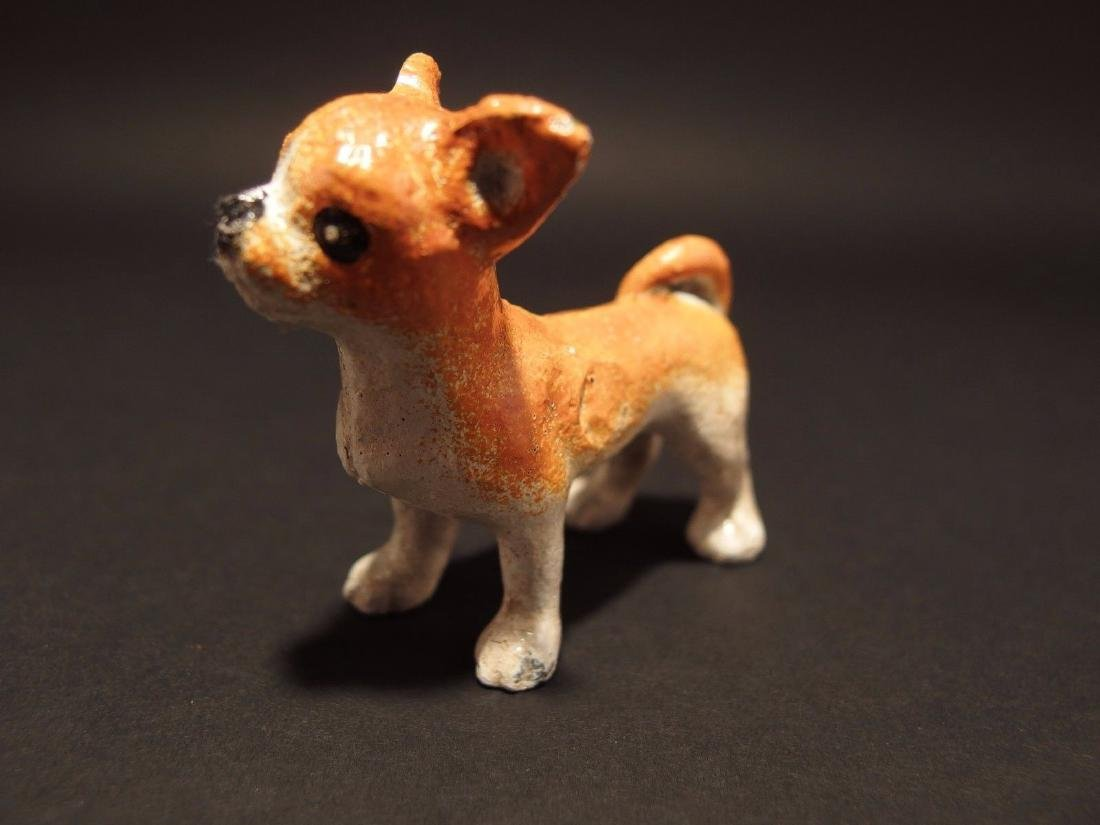 Primitive Miniature Cast Iron Dog Chihuahua - 8