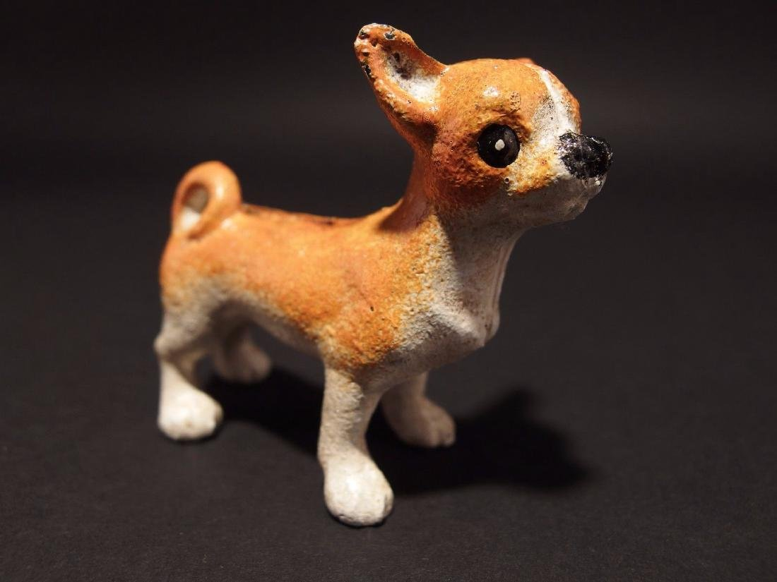Primitive Miniature Cast Iron Dog Chihuahua - 9
