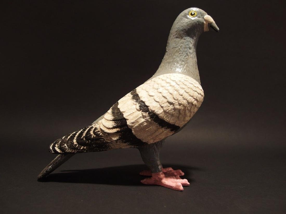 Primitive Cast Iron Folk Art Pigeon - 2