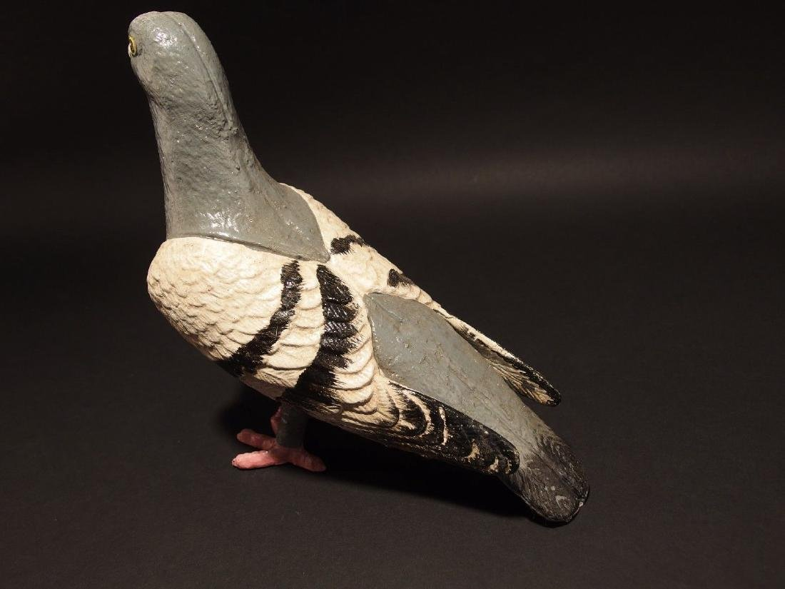 Primitive Cast Iron Folk Art Pigeon - 6