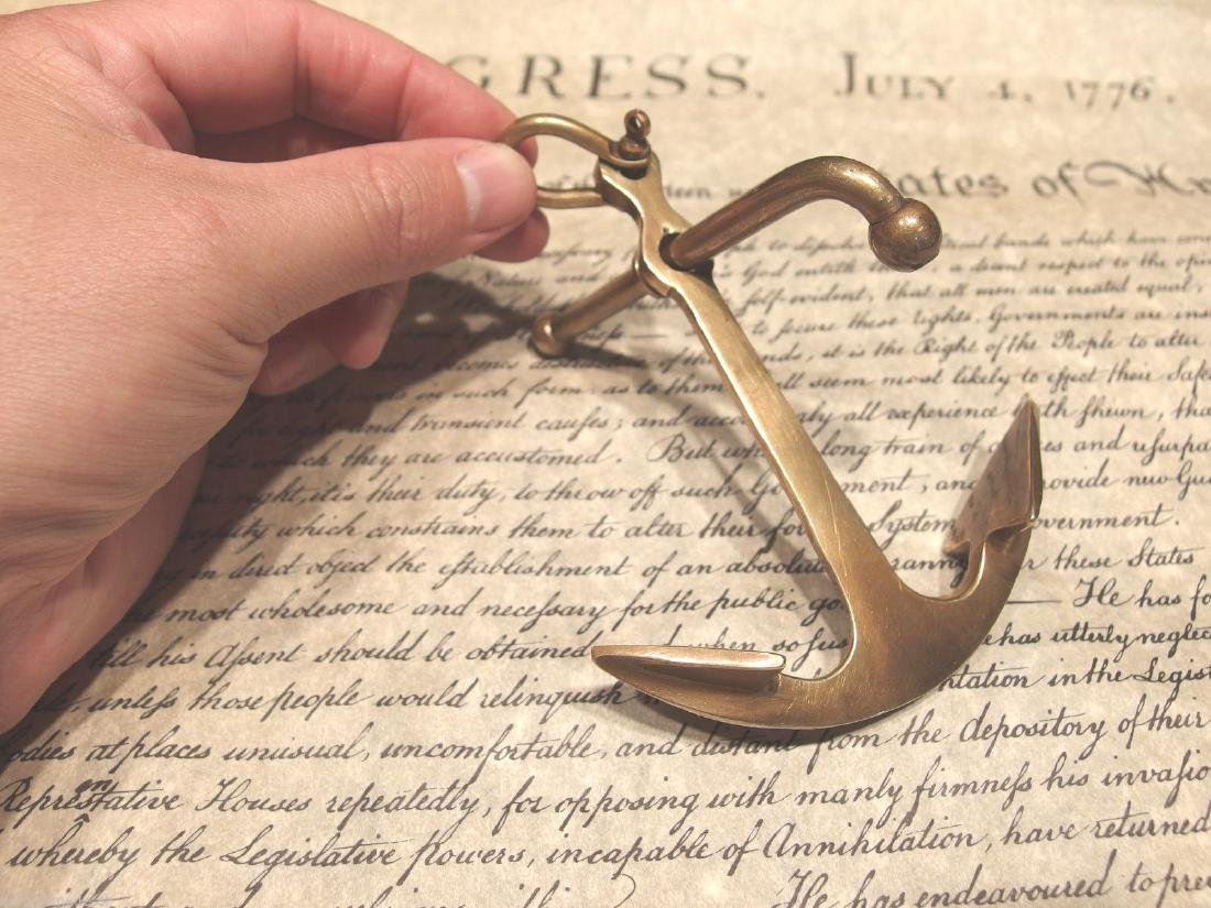 """5""""Brass Nautical Ships Boat Anchor Paperweight Desk - 5"""