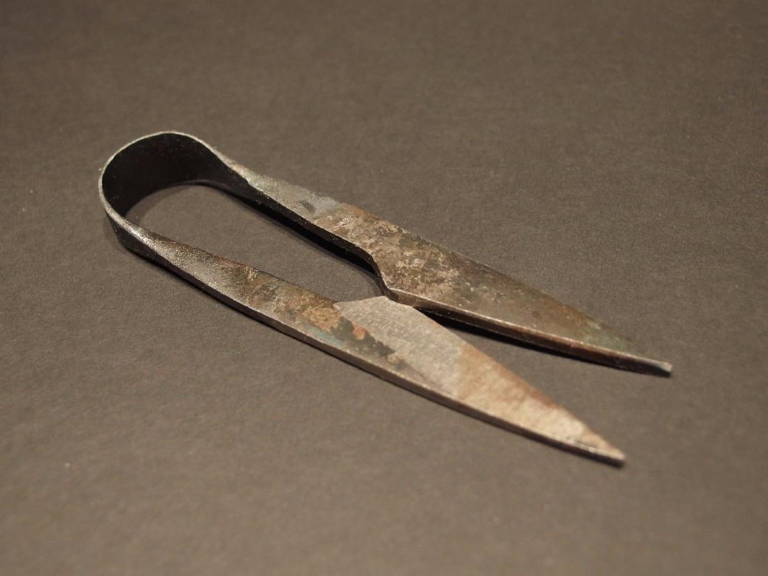 Custom Forged Iron Patch Scissors - 5