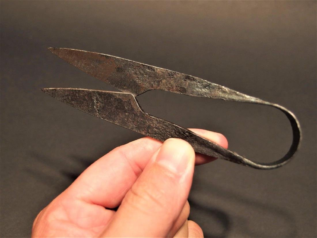 Custom Forged Iron Patch Scissors - 6