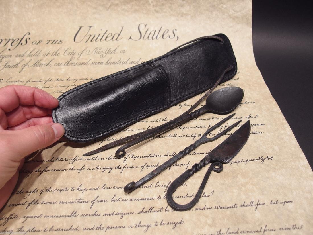 Flint StrikerCustom Forged Primitive Knife Utensil Set - 6