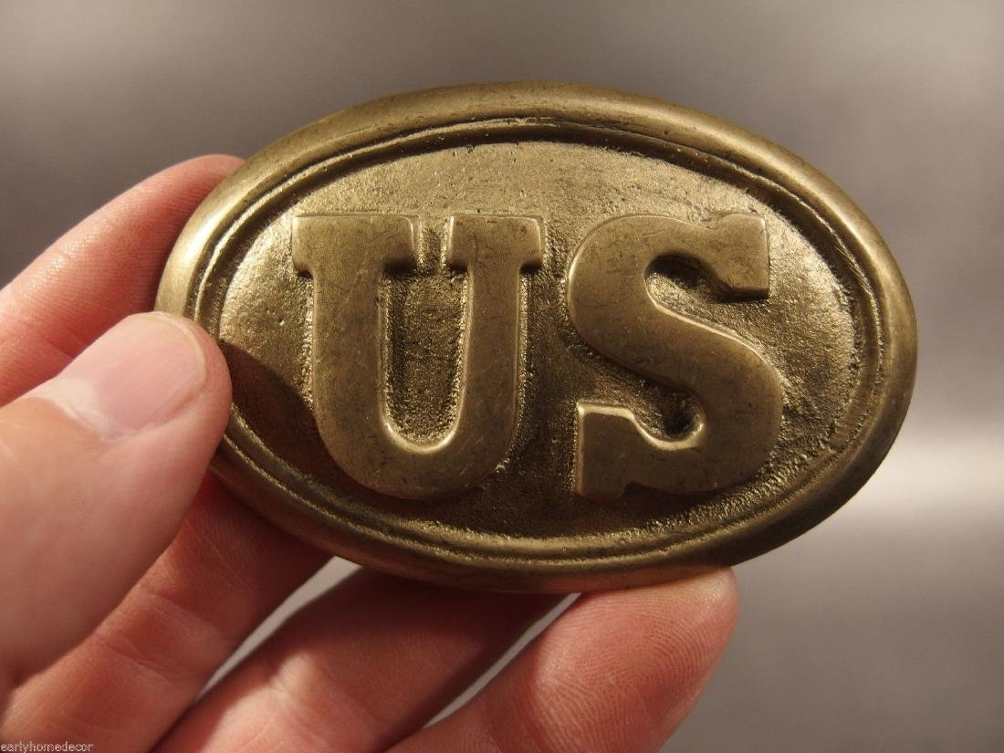 Military Civil War Union Soldier US Belt Buckle Plate