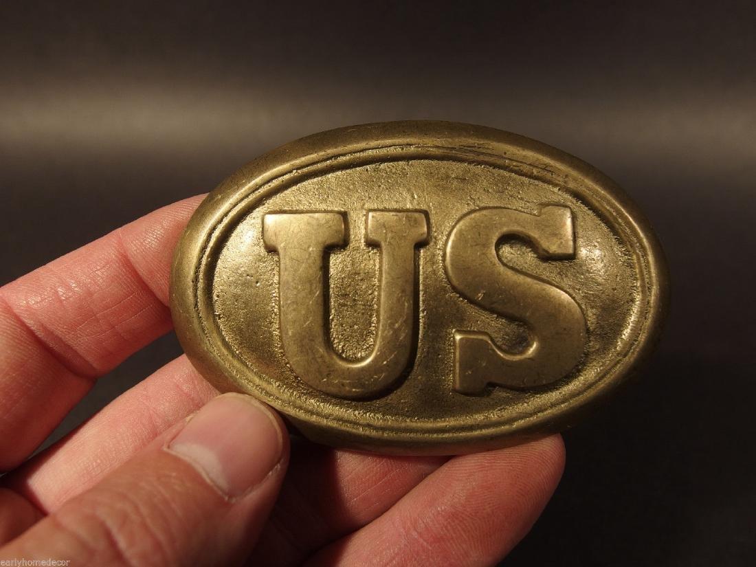 Military Civil War Union Soldier US Belt Buckle Plate - 3