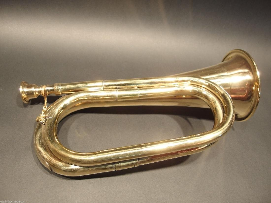 US Military Civil War Brass Bugle Horn - 6