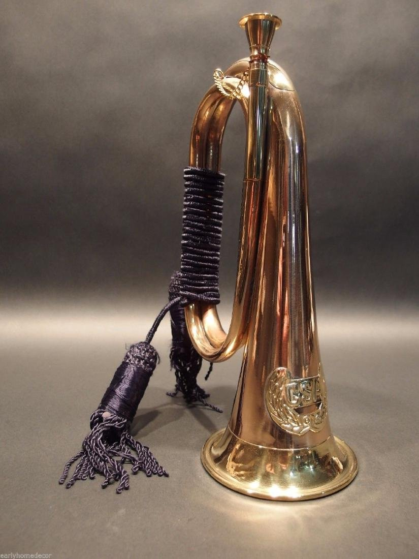 US Military CSA Confederate Civil War Brass Bugle Horn