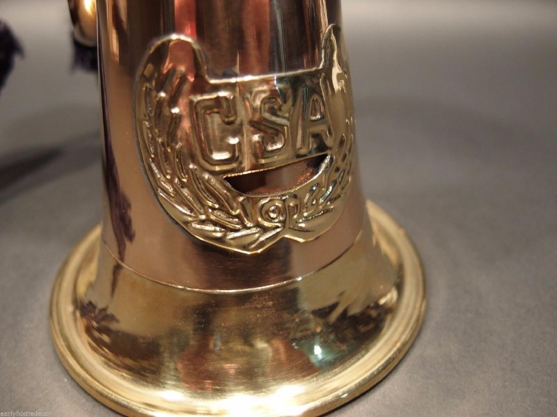US Military CSA Confederate Civil War Brass Bugle Horn - 2