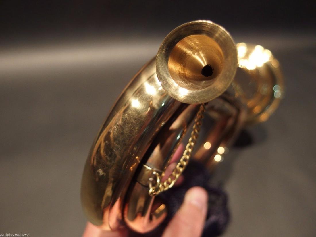 US Military CSA Confederate Civil War Brass Bugle Horn - 4