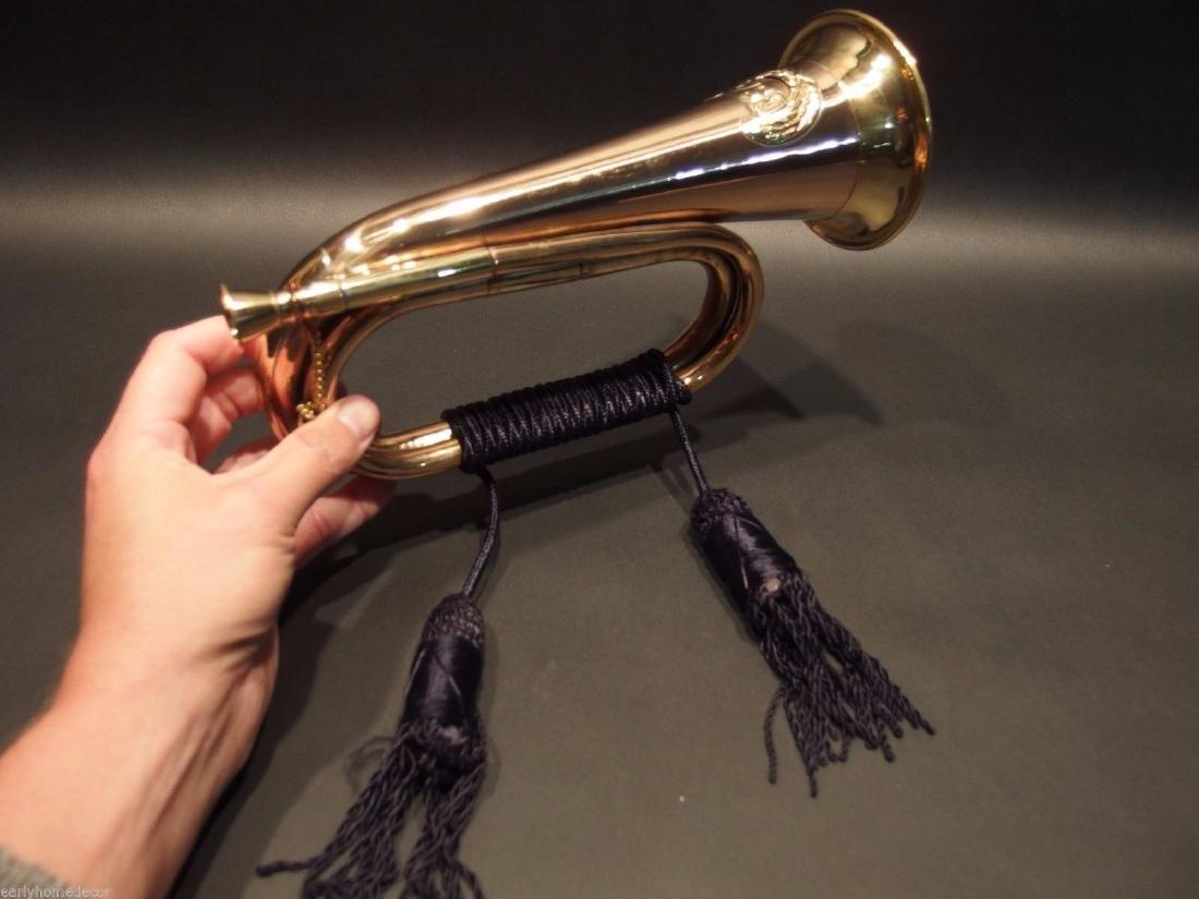US Military CSA Confederate Civil War Brass Bugle Horn - 5