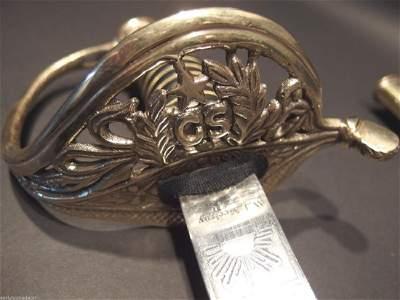 W.J. McElroy Civil War Officers Confederate CS Sword