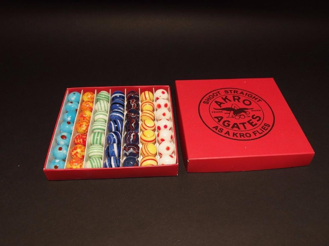 Akro Agates Marble set w Box - 3