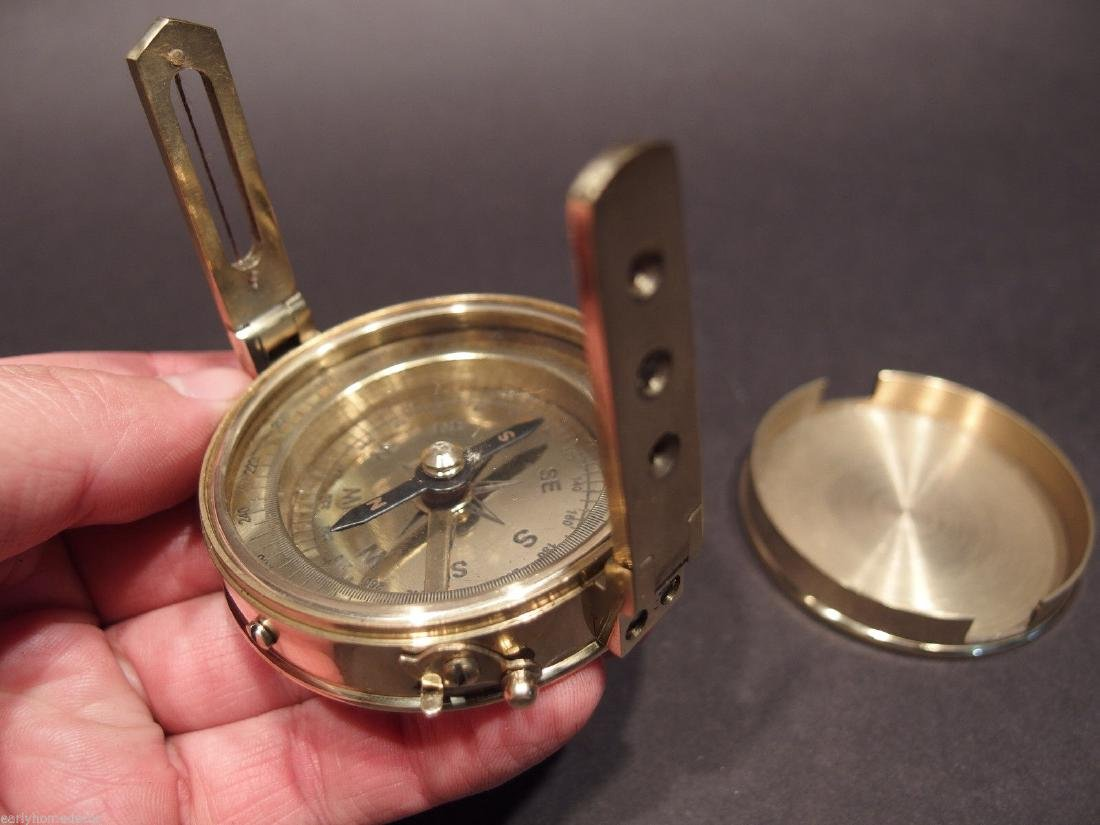 Brass Encampment & Fortification Surveyors Compass