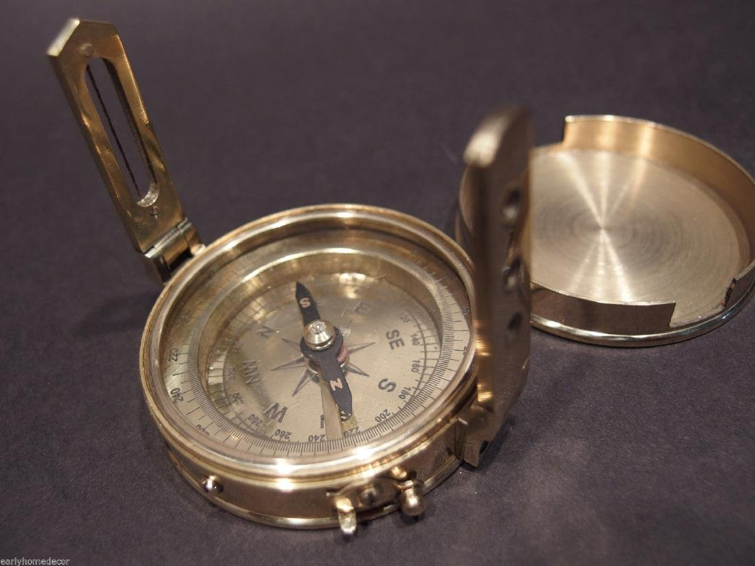 Brass Encampment & Fortification Surveyors Compass - 2
