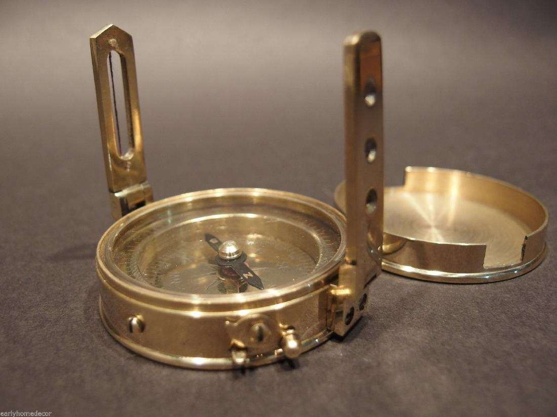 Brass Encampment & Fortification Surveyors Compass - 4