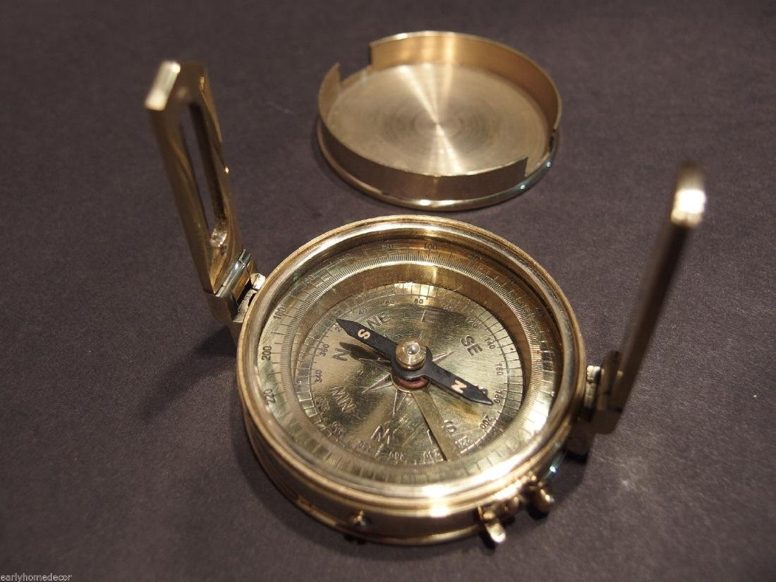 Brass Encampment & Fortification Surveyors Compass - 6
