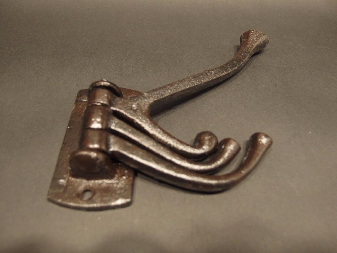 Cast Iron Wall Hook Swivel Folding Coat Hanger Hardware - 7