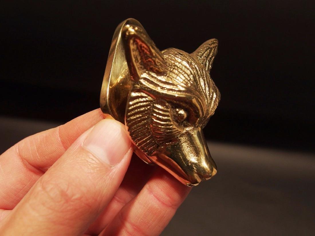 Small Solid Brass Fox Door Knocker Hardware - 10